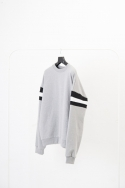 [UEX]SQ OVER FIT SWEAT SHIRT LIGHT GREY