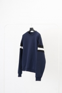 [UEX]SQ OVER FIT SWEAT SHIRT NAVY