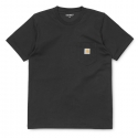 칼하트WIP(CARHARTT WIP) S/S POCKET T-SHIRT BLACK