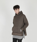 모한(MOHAN) [MOHAN] MOHAN MENS SIDE VENTED HOODIE BROWN