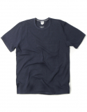 아웃스탠딩(OUTSTANDING) CREWNECK POCKET TEE [NAVY]