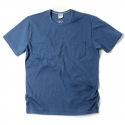 아웃스탠딩(OUTSTANDING) CREWNECK POCKET TEE [BLUE]
