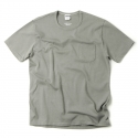 아웃스탠딩(OUTSTANDING) CREWNECK POCKET TEE [KHAKI GRAY]