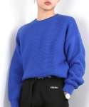 베이직코튼(BASIC COTTON) basic knit - blue