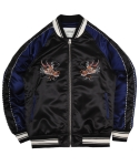 Dragon Satin Souvenir Jkt - Black/Navy