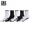 글로브(GLOBE) [GLOBE] GLOBE QUARTER SOCK 5 PACK (BLACK/WHITE)