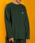 베이직코튼(BASIC COTTON) color logo long top - green