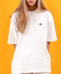 베이직코튼(BASIC COTTON) color logo top - white