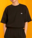 베이직코튼(BASIC COTTON) color logo top - black