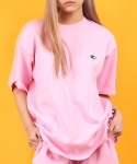 베이직코튼(BASIC COTTON) color logo top - pink