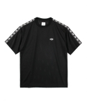 SIDE TAPE MESH S/S TEE BLACK