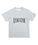 레이어 유니온(LAYER UNION) PATTERN UNION S/S TEE GREY