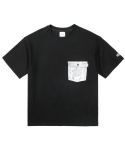 레이어 유니온(LAYER UNION) SILVER POCKET S/S TEE BLACK