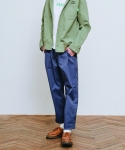 러닝하이(RUNNING HIGH) [UNISEX] N/C SPAN BAGGY TROUSERS [VIOLET BLUE]