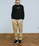 러닝하이(RUNNING HIGH) [UNISEX] N/C SPAN BAGGY TROUSERS [BEIGE]