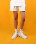 베이직코튼(BASIC COTTON) color logo shorts - white