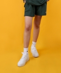 베이직코튼(BASIC COTTON) color logo shorts - green
