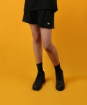 베이직코튼(BASIC COTTON) color logo shorts - black
