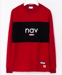 미나브(MINAV) [UNISEX]NAV NEED SWEATSHIRTS RED