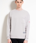 미나브(MINAV) [UNISEX]BASIC SWEATSHIRTS GREY
