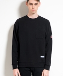 미나브(MINAV) [UNISEX]BASIC SWEATSHIRTS BLACK