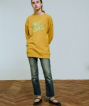 러닝하이(RUNNING HIGH) [UNISEX] F.M BIG LOGO SWEAT SHIRTS [MUSTARD]