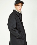 인사일런스(INSILENCE) OVERSIZE TRENCH COAT (BLACK)