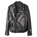 플레이스먼트(PLACEMENT) [플레이스먼트] Placement - LAMB SKIN RIDERS JACKET (Black)