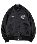 엘엠씨(LMC) REVERSIBLE SATIN VARSITY JACKET black