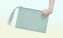 아포코팡파레(APOCOFANFARE) MULTIPLE TASSEL CLUTCH - ALL MINT