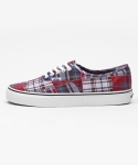 반스() 반스 어센틱 / VN-04MKIU2 / Authentic (Plaid Patchwork) red