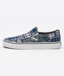 반스() 반스 클래식슬립온 / VN-03Z4IU3 / Classic Slip-On (Plaid Patchwork) blue
