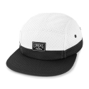 크룩스앤캐슬(CROOKS & CASTLES) Woven 5-Panel Cap - Core Logo (White/Black)