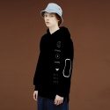 사이언티스트(SCIENTIST) SPACE PICTOGRAM HOODIE (black)