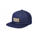 화이트블랭크레이블(WHITE BLANK LABEL) [HNK] Junk Food Village 5P Denim Ball Cap(NAVY)