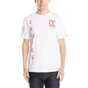 크룩스앤캐슬(CROOKS & CASTLES) Mens Knit Crew T-Shirt - Established Crooks (White)