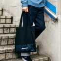 앤더슨벨(ANDERSSON BELL) UNISEX Two-Tone Logo Eco Bag aaa018(Black/Blue)
