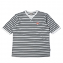 로맨틱크라운(ROMANTIC CROWN) [ROMANTICCROWN]ALLDAY STRIPE 1/2 SHIRTS_GRAY
