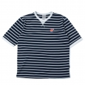 로맨틱크라운(ROMANTIC CROWN) [ROMANTICCROWN]ALLDAY STRIPE 1/2 SHIRTS_NAVY
