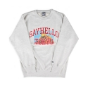 세이헬로우(SAYHELLO) Cat Eats Crew Neck Ash Gray