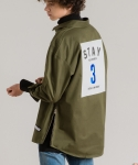 미나브(MINAV) [UNISEX] STAY LOGO SHRIT-JACKET KHAKI