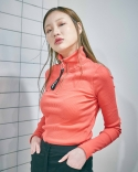 클럿 스튜디오(CLUT STUDIO) Dario Messy Redorange Knit Top