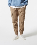 퍼블릭아이콘(PUBLIC ICON) [034]Beige cotton cargo jogger pants