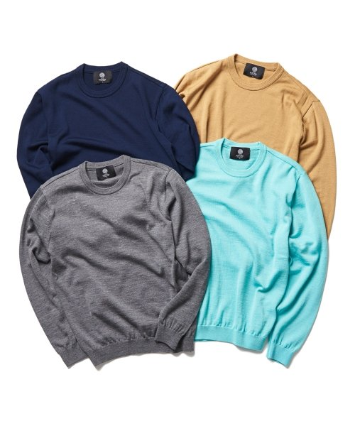 니티드(KNITTED) SUPERWOOL STANDARD CREWNECK KNIT