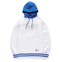 본챔스(BORN CHAMPS) CMPS STRIPE HOODY WHITE