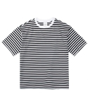 레이어 유니온(LAYER UNION) STRIPE S/S TEE BLACK