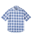 레이어 유니온(LAYER UNION) SHORT SLEEVE CHECK SHIRTS LIGHT BLUE