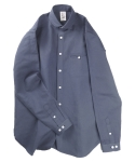 Easy shawl shirts(NAVY)