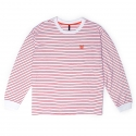 BAF_890 STRIPE LONG SHIRTS (RED)