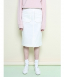 로에일(LOEIL) Piping skirt (Ivory)